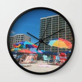 Just Beachin Wall Clock
