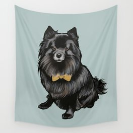Ozzy the Pomeranian Mix Wall Tapestry