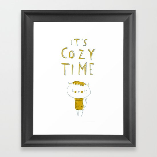 it's cozy time Framed Art Print