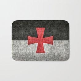 Knights Templar Symbol with super grungy textures Bath Mat