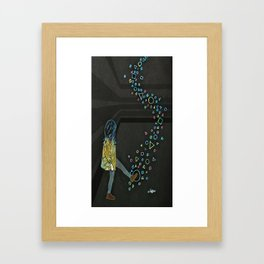 Kickin Up Shapes Framed Art Print