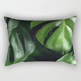 Monstera Background Rectangular Pillow
