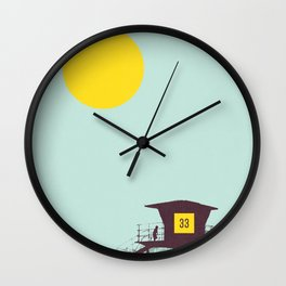 Locals Only - San Diego Wall Clock