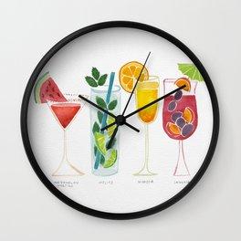 Summer Cocktails Wall Clock