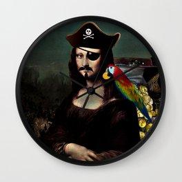 Mona Lisa Pirate Captain Wall Clock