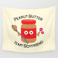 allyson johnson Wall Tapestries featuring Don't Be Jelly by David Olenick