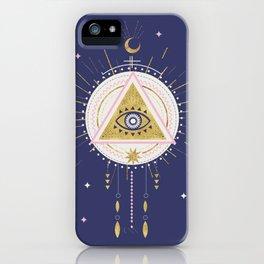 Magical night tarot illustration no5 iPhone Case