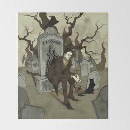Edgar Allan Poe Throw Blanket