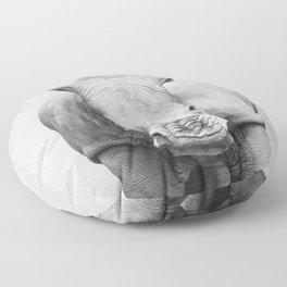Rhino 2 - Black & White Floor Pillow