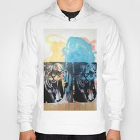 tigers Hoodies featuring YAWNING TIGERS by Brandon Neher