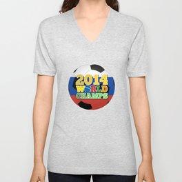 2014 World Champs Ball - Russia Unisex V-Neck