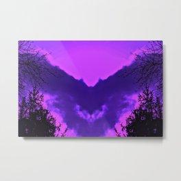 Night Bringing Owl-purple Metal Print