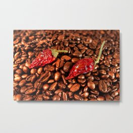 Hot Chili Coffee Metal Print