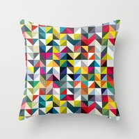 book cover Throw Pillows featuring 100 book cover colours by Coralie Bickford-Smith