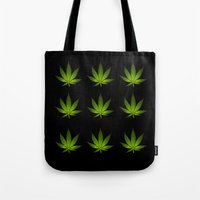 weed Tote Bags featuring Weed by Spyck
