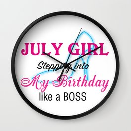 July Girl Birthday Wall Clock