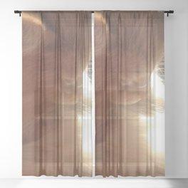 Angelic Cat Sheer Curtain