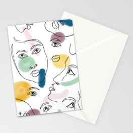 Female Portraits #society6 #figurative Stationery Cards