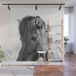 Horse Print | Modern and Black and White Wall Mural