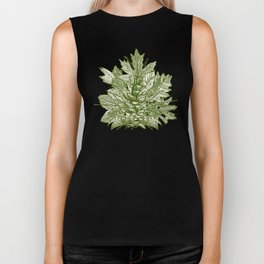 forest floor green ivory Biker Tank
