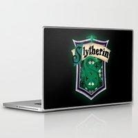 slytherin Laptop & iPad Skins featuring Slytherin by Zeynep Aktaş