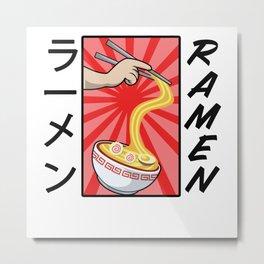 Noodles Anime Manga Funny Cute Japan Otaku Metal Print