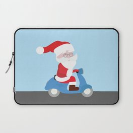 Santa Claus coming to you on his Scooter Laptop Sleeve