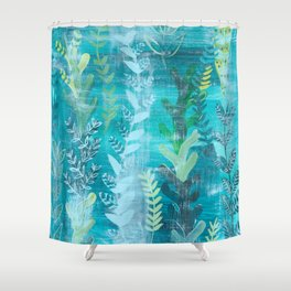 Blue Jungle (Baby) Shower Curtain