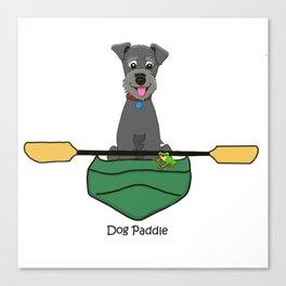 Dog Paddle Canvas Print