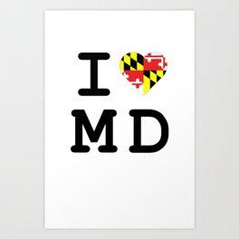 I Heart MD Art Print