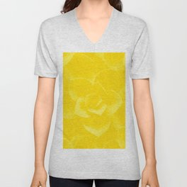Succulent Plant Yellow Mellow Color #decor #society6 #buyart Unisex V-Neck