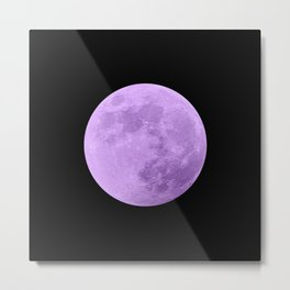 LAVENDER MOON // BLACK SKY Metal Print