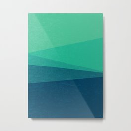 Stripe VIII Minty Fresh Metal Print