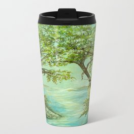View from the River Bank Travel Mug