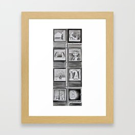 Apartment building - acrylic and ink painting  Framed Art Print