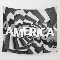 america Wall Tapestries featuring America by politics