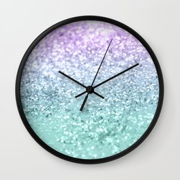 Mermaid Girls Glitter #1 #shiny #decor #art #society6 Wall Clock