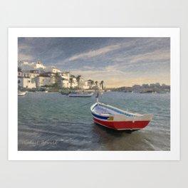 Ferragudo fishing boat, the Algarve, Portugal Art Print