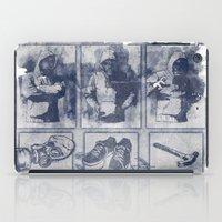 blueprint iPad Cases featuring Vigilante Blueprint by Matthew Dunn