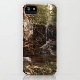 Indian Falls 1853 By David Johnson | Reproduction | Romanticism Landscape Painter iPhone Case