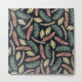 Autumn Fir Branches Metal Print