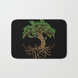 Rope Tree of Life. Rope Dojo 2017 black background Bath Mat