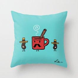 Cafe De Olla Throw Pillow