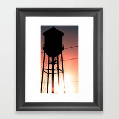 Water Tower Framed Art Print