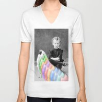 lsd V-neck T-shirts featuring LSD Chicken by Whiteashes