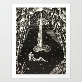 Garden, Engraving From Song of Solomon by Cecil Buller Art Print