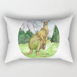Austrian Kangaroo Rectangular Pillow