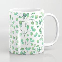 Watercolor vintage green leaves Coffee Mug
