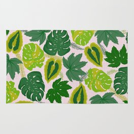 Greens and Leaves Rug