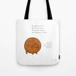 the spherical bear Tote Bag